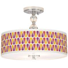 "Hinder Giclee 16"" Wide Semi-Flush Ceiling Light"