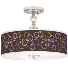 "Linger Giclee 16"" Wide Semi-Flush Ceiling Light"