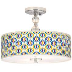 "Scatter Giclee 16"" Wide Semi-Flush Ceiling Light"