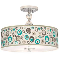 "Stammer Giclee 16"" Wide Semi-Flush Ceiling Light"