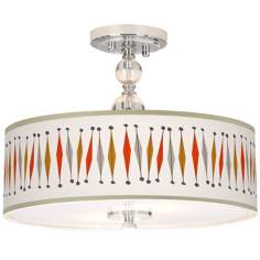 "Tremble Giclee 16"" Wide Semi-Flush Ceiling Light"