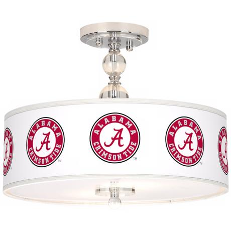 "The University of Alabama 16"" Wide Semi-Flush Ceiling Light"