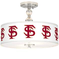 "Florida State University 16"" Wide Semi-Flush Ceiling Light"