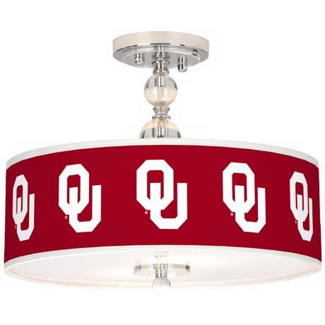 "The University of Oklahoma 16"" Wide Semi-Flush Ceiling Light"
