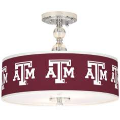 "Texas A&M University 16"" Wide Semi-Flush Ceiling Light"
