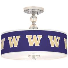 "University of Washington 16"" Wide Semi-Flush Ceiling Light"