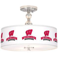 "University of Wisconsin 16"" Wide Semi-Flush Ceiling Light"