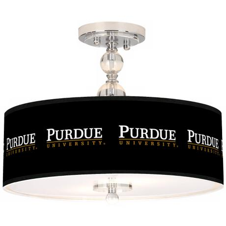 "Purdue University 16"" Wide Semi-Flush Ceiling Light"