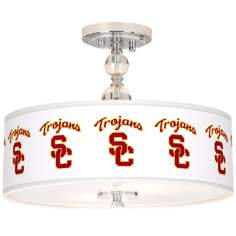 "USC Trojans 16"" Wide Semi-Flush Ceiling Light"