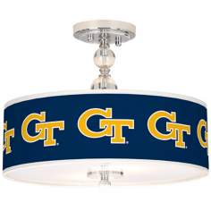 "Georgia Tech 16"" Wide Semi-Flush Ceiling Light"