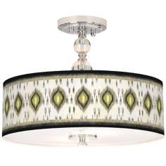 "Desert Ikat Giclee 16"" Wide Semi-Flush Ceiling Light"