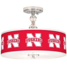 "Nebraska Huskers 16"" Wide Semi-Flush Ceiling Light"