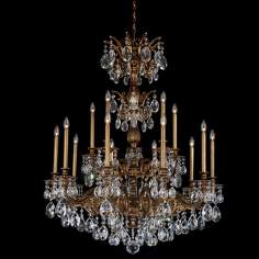 "Schonbek Milano Collection 39"" Wide Crystal Chandelier"