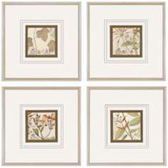 Set of 4 Botanical Quadrant Prints III Wall Art