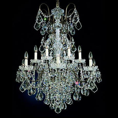 "Schonbek New Orleans Collection 32"" Wide Crystal Chandelier"