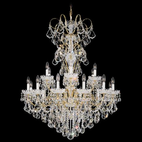 "Schonbek New Orleans Collection 36"" Wide Crystal Chandelier"