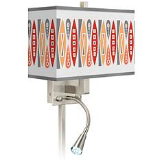 Vernaculis VI Giclee Glow LED Reading Light Plug-In Sconce
