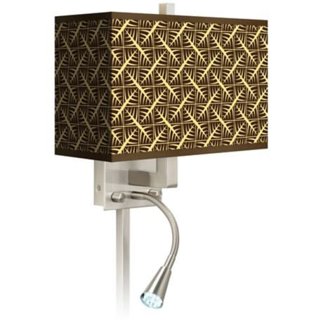 Tan Wailia Giclee LED Reading Light Plug-In Sconce