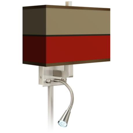 Empire Red Giclee LED Reading Light Plug-In Sconce