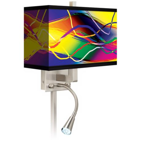Colors In Motion Light LED Reading Light Plug-In Sconce