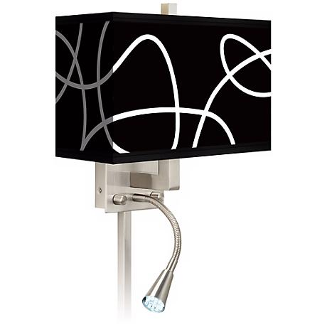 Abstract Giclee LED Reading Light Plug-In Sconce