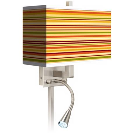 Stacy Garcia Harvest Stripe LED Reading Light Plug-In Sconce