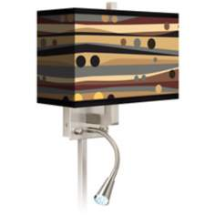 Natural Dots and Waves LED Reading Light Plug-In Sconce
