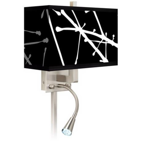 Stacy Garcia Calligraphy Tree Black LED Light Plug-In Sconce