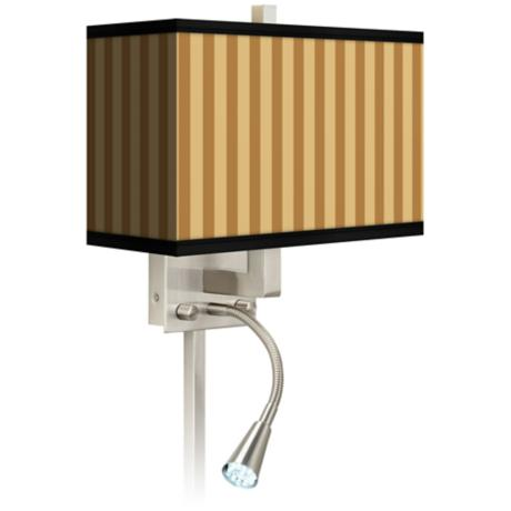 Butterscotch Vertical LED Reading Light Plug-In Sconce