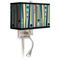Pastel Dots Vertical Giclee LED Reading Light Plug-In Sconce