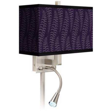 Stacy Garcia Fancy Fern Rich Plum LED Light Plug-In Sconce