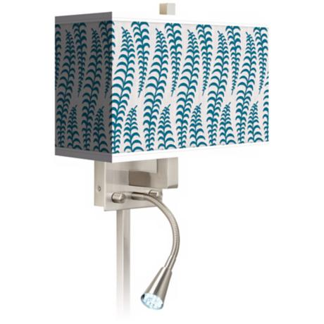 Stacy Garcia Fancy Fern Peacock LED Light Plug-In Sconce