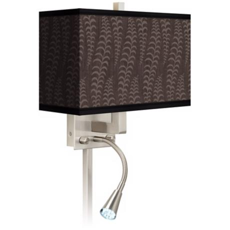 Stacy Garcia Fancy Fern Taupe LED Light Plug-In Sconce