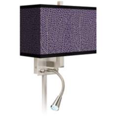 Stacy Garcia Seafan Rich Plum LED Light Plug-In Sconce