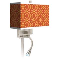 Stacy Garcia Lattice Globetrotter LED Light Plug-In Sconce