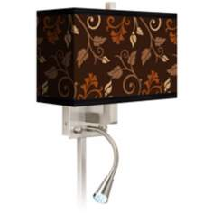 Foliage Giclee LED Reading Light Plug-In Sconce