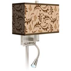 Fall Breeze Giclee LED Reading Light Plug-In Sconce