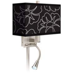 Summer Silhouette Giclee LED Reading Light Plug-In Sconce