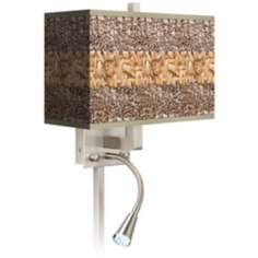 Woven Fundamentals Giclee LED Reading Light Plug-In Sconce