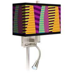 Mambo Giclee LED Reading Light Plug-In Sconce