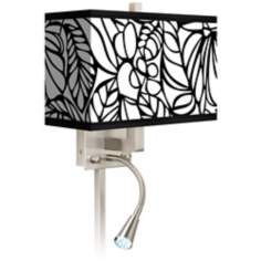 Jungle Moon Giclee LED Reading Light Plug-In Sconce