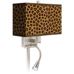 Safari Cheetah Giclee LED Reading Light Plug-In Sconce