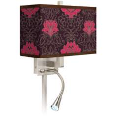 Stacy Garcia Florentia Wild Berry Giclee LED Light Plug-In Sconce