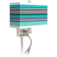 Key West Party Time Giclee LED Reading Light Plug-In Sconce