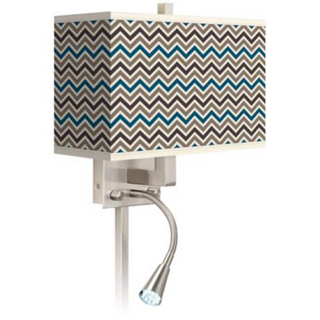 Zig Zag Giclee LED Reading Light Plug-In Sconce
