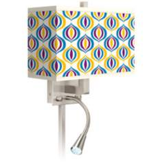 Scatter Giclee LED Reading Light Plug-In Sconce