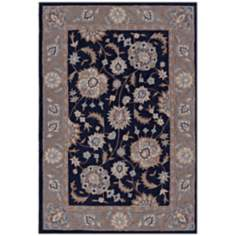 Winchester Collection Hawthorne Navy Area Rug