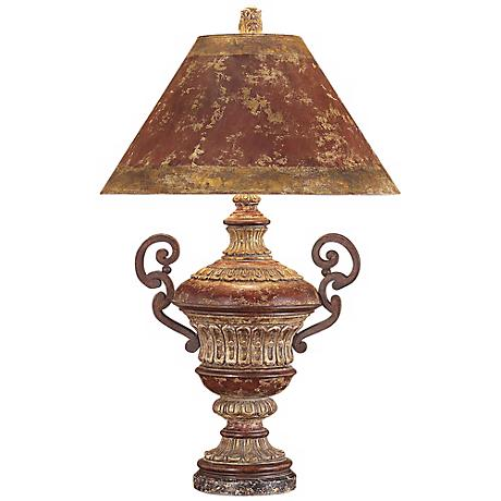 John Richard Hand Painted Urn Table Lamp