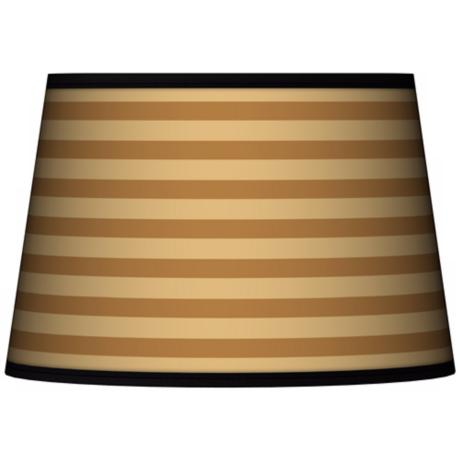 Butterscotch Parallels Tapered Lamp Shade 13x16x10.5 (Spider)