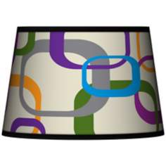 Retro Squares Scramble Tapered Lamp Shade 13x16x10.5 (Spider)